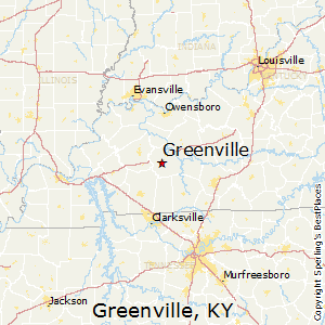 Greenville,Kentucky Map