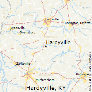 Hardyville,Kentucky Map