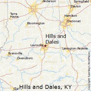Hills_and_Dales,Kentucky Map
