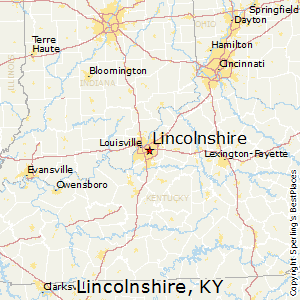 Lincolnshire,Kentucky Map