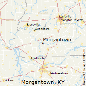Morgantown,Kentucky Map