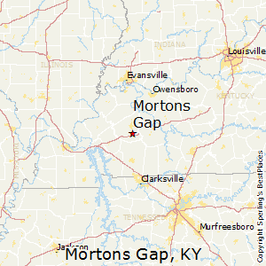 Mortons_Gap,Kentucky Map