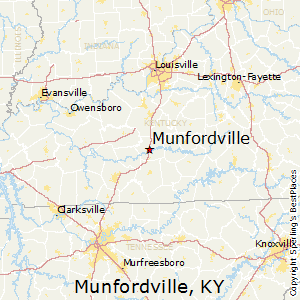 Munfordville,Kentucky Map
