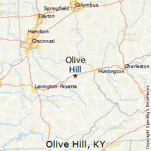 Olive_Hill,Kentucky Map