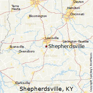 Shepherdsville,Kentucky Map