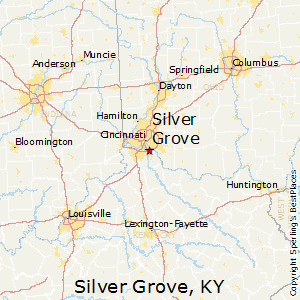 Silver_Grove,Kentucky Map