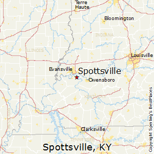 Spottsville,Kentucky Map