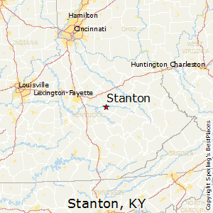 Stanton,Kentucky Map