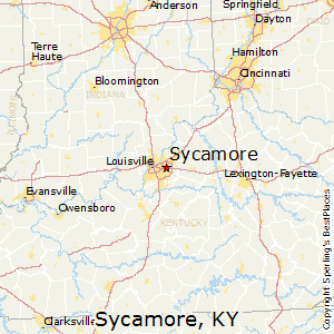 Sycamore,Kentucky Map