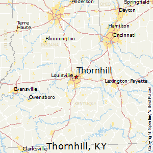Thornhill,Kentucky Map