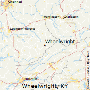 Wheelwright,Kentucky Map