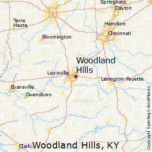 Woodland_Hills,Kentucky Map
