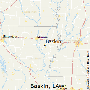 Baskin,Louisiana Map