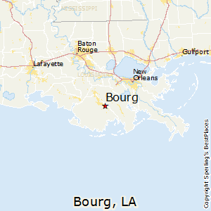 Bourg,Louisiana Map