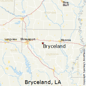 Bryceland,Louisiana Map