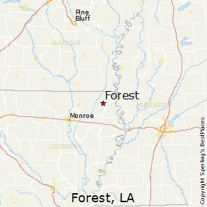 Forest,Louisiana Map