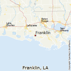 Franklin,Louisiana Map