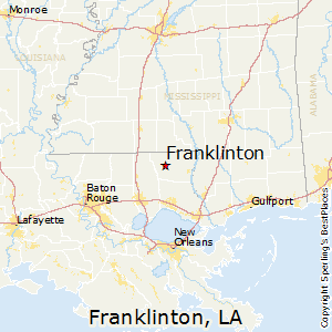 Franklinton,Louisiana Map