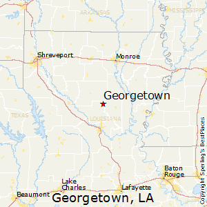 Georgetown,Louisiana Map