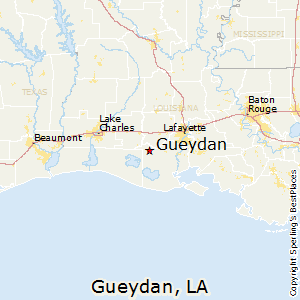 Gueydan,Louisiana Map
