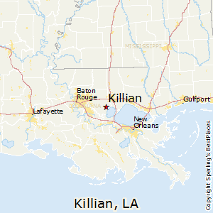 Killian,Louisiana Map