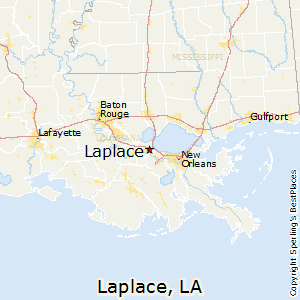 Laplace,Louisiana Map
