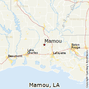 Mamou,Louisiana Map