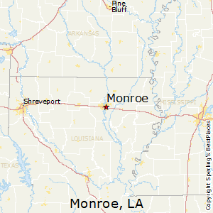 map of monroe louisiana Best Places To Live In Monroe Louisiana map of monroe louisiana