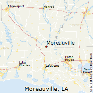 Moreauville,Louisiana Map