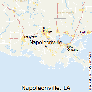 Napoleonville,Louisiana Map