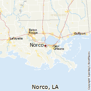 Norco,Louisiana Map