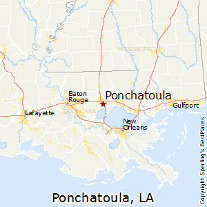 Ponchatoula,Louisiana Map