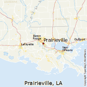 Prairieville,Louisiana Map