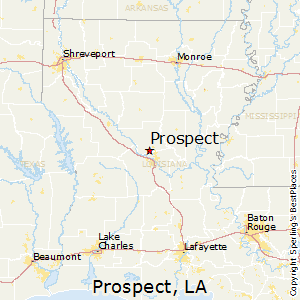 Prospect,Louisiana Map