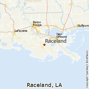 Raceland,Louisiana Map