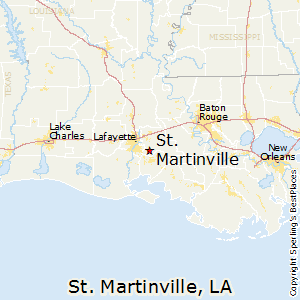 St_Martinville,Louisiana Map