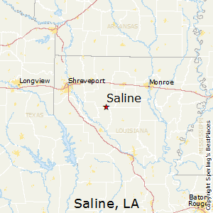 Saline,Louisiana Map