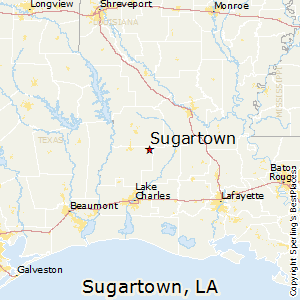 Sugartown,Louisiana Map