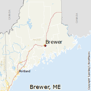 Best Places To Live In Brewer Maine - Maine cities map