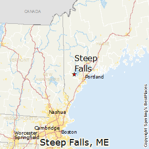 Steep_Falls,Maine Map