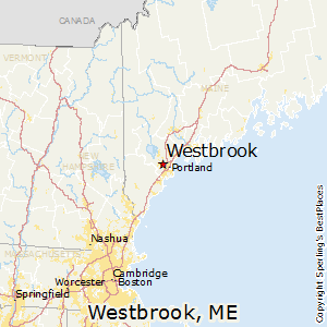 Westbrook,Maine Map