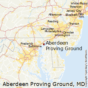 Aberdeen_Proving_Ground,Maryland Map