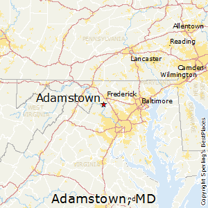 Adamstown,Maryland Map