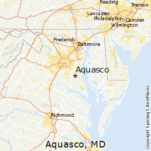 Aquasco,Maryland Map