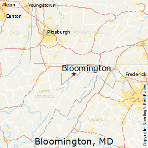 Bloomington,Maryland Map