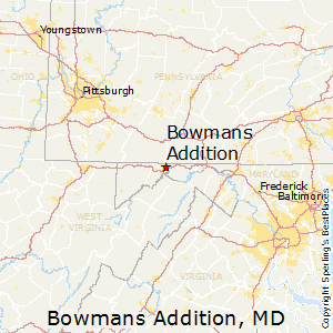 Bowmans_Addition,Maryland Map