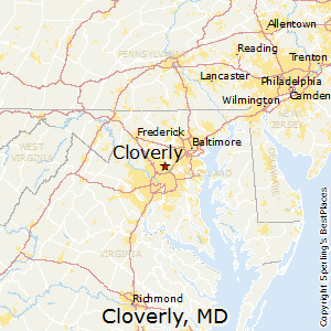Cloverly,Maryland Map