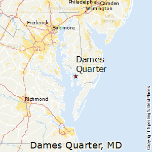 Dames_Quarter,Maryland Map