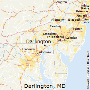 Darlington,Maryland Map