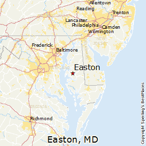 Comparison: Easton, Maryland   Chestertown, Maryland